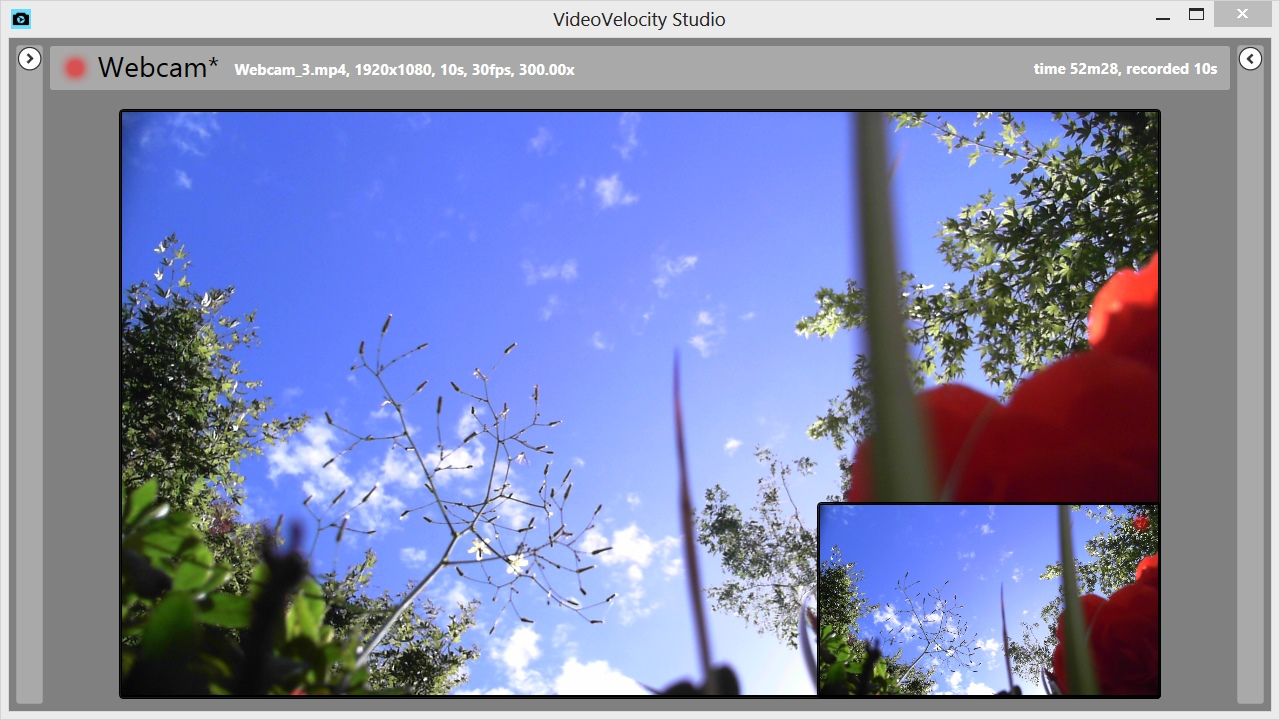 VideoVelocity - Time-Lapse video recording software