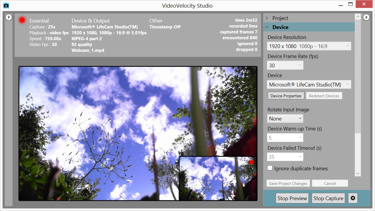 webcam time lapse software